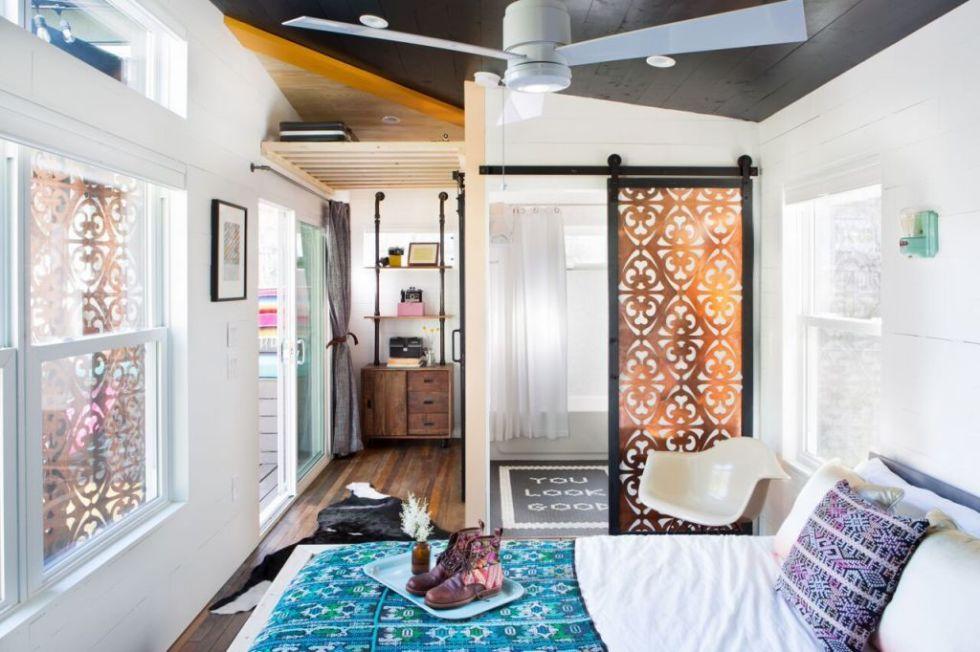 Eklektički šarena kuća male kucice krevet 2