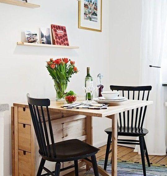 kako mali prostor učiniti većim stol na rasklapanje