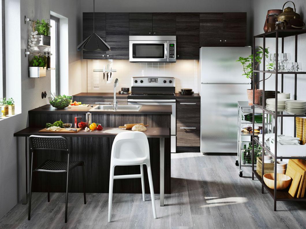 kuhinjske dimenzije crna kuhinja