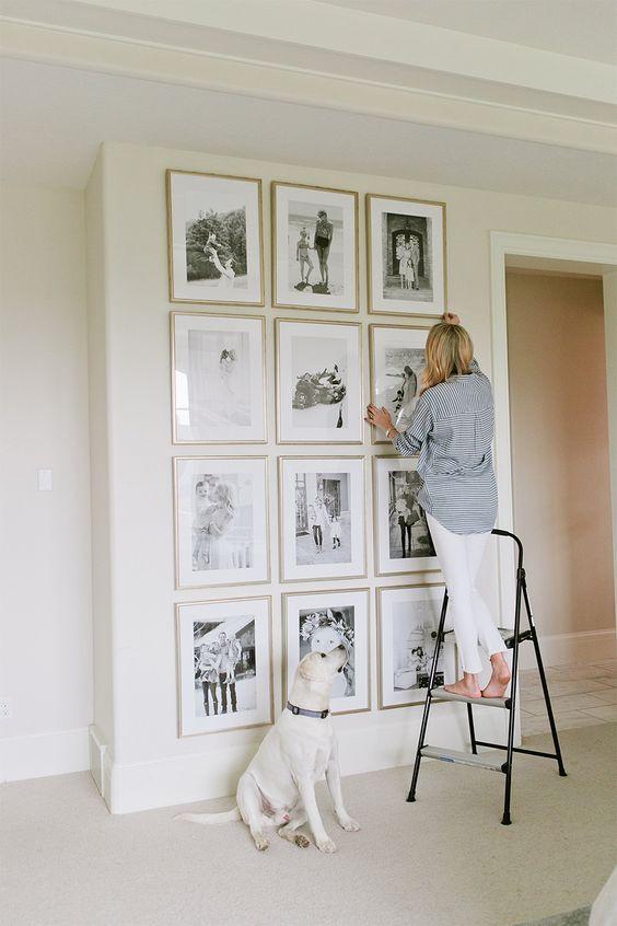 postavljanje slika na zidu raspored namještaja