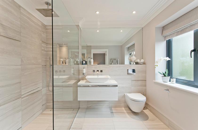 balas svijetla i privatnosti za tamnu kupaonicu