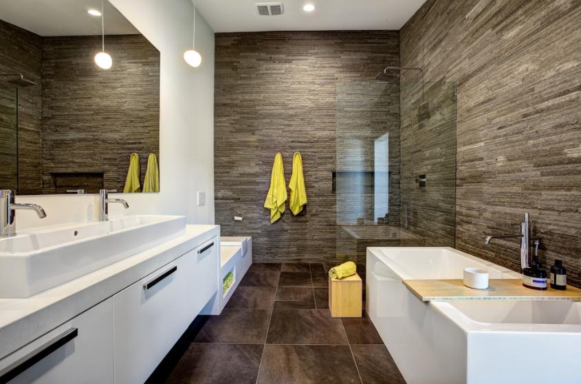 kupaonica sa drvenom oblogom
