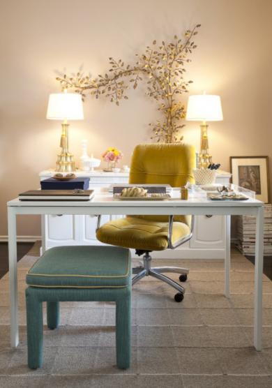 kako raditi od doma žuta stolica i bijeli stol