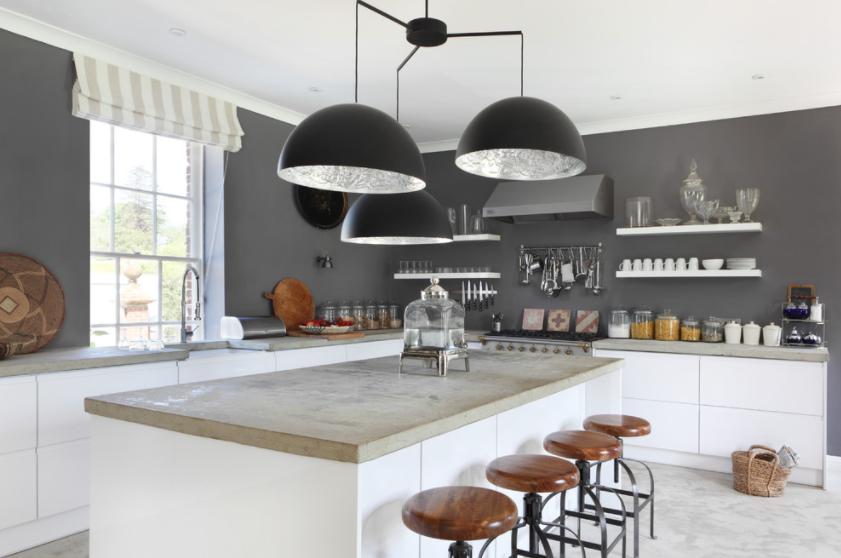 beton kao radna površina u kuhinji