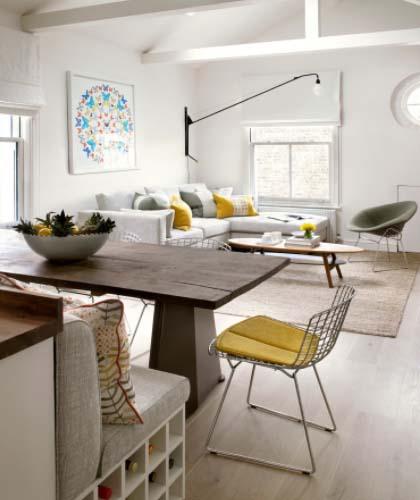 Ugradbena klupa i blagavaonski stol
