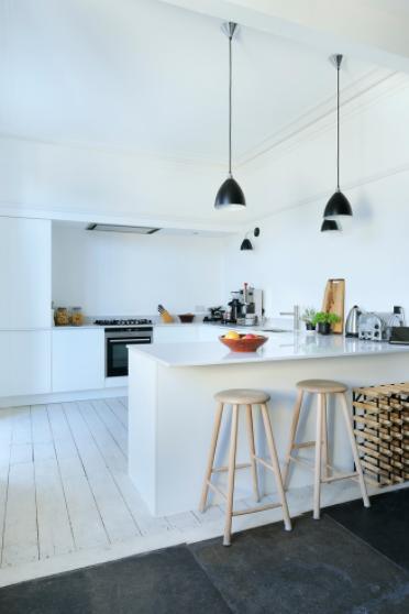 Postojeći raspored se promijenio kako bi se dobio izgled skandinavske kuhinje