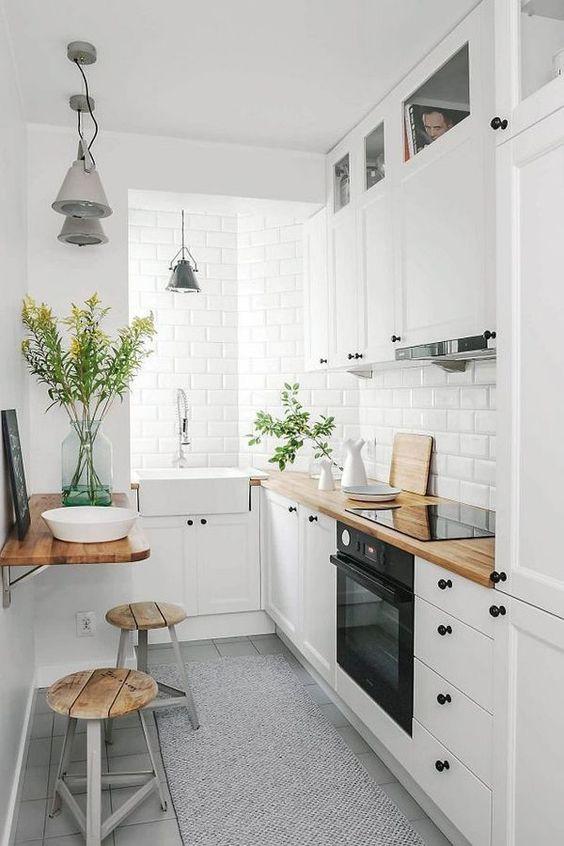Minimalni razmak između elemenata za malu kuhinju