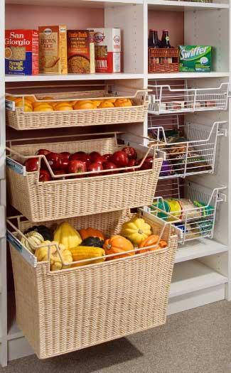 Kuhinjske elemente možte popuniti sa košarama za voće i povrće