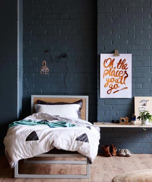 Krevet za jednu osobu za spavaću sobu