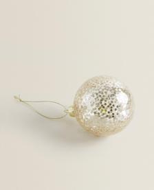 Staklena kuglica sa zvijezdicama - Ukras za Božić