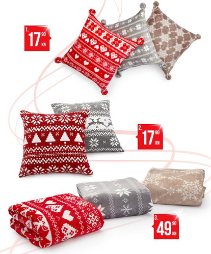 Ukrasni jastuci i deke za Božić