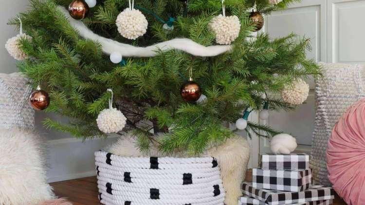 Kako urediti podnožje drvca?