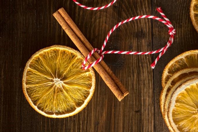 Sušena naranča kao ukras